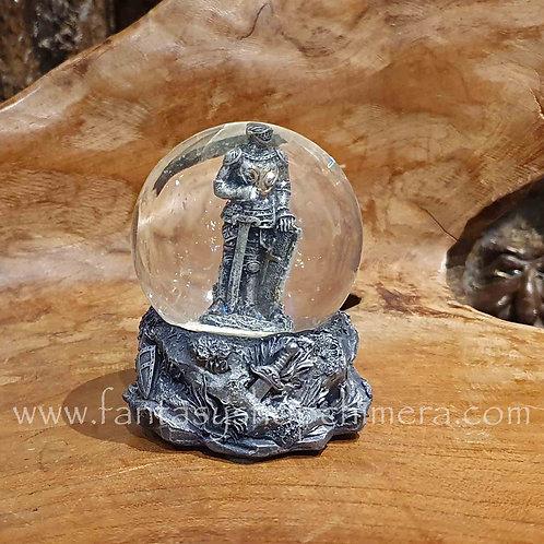 knight snow globe glitter ridder sneeuwbol