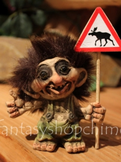 Troll with moose sign
