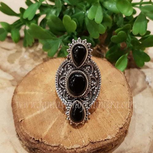 black onyx silver ring jewellery jewelry shop amsterdam zwarte ring gothic sieraden zilver winkel
