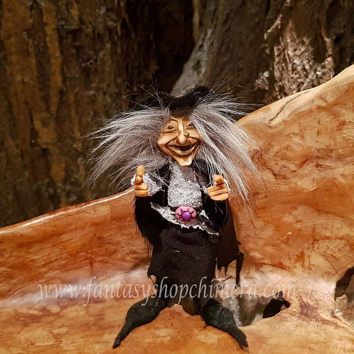 Thea witch heks handmade one of a kind o.o.a.k. ooak fantasy gnome duende pixie kabouter uniek handgemaakt