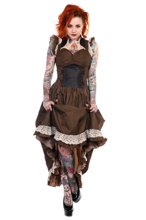 Steampunk pull up dress