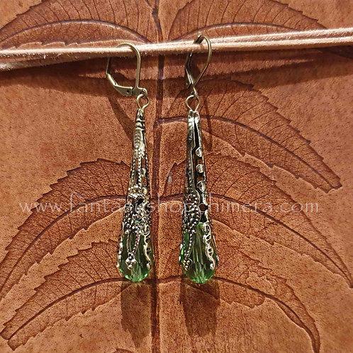 Cilinder Teardrop Earrings