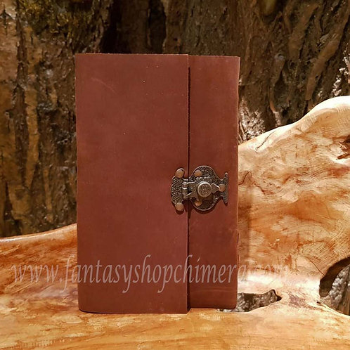 Secrets brown leather journal diary book notes leren boekje tekenboek opschrijfboek dagboek notitieboek fantasy shop store