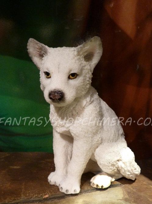White wolf pup Bor