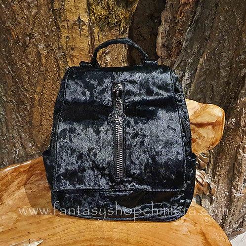 velvet pentagram backpack ruckzak rugtas fluweel zwart black banned dancing days tassenwinkel amsterdam