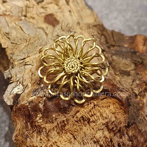 brass flower ring copper wire adjustable verstelbare ringen sieraden