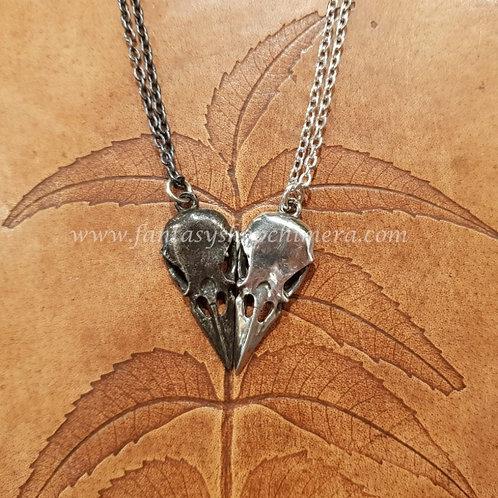 Raven Skulls BFF necklace