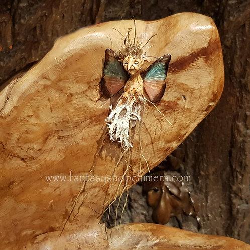 twigeline fairy large ooak fantasy art twijgelijntje elfje vlindervleugels butterfly wings