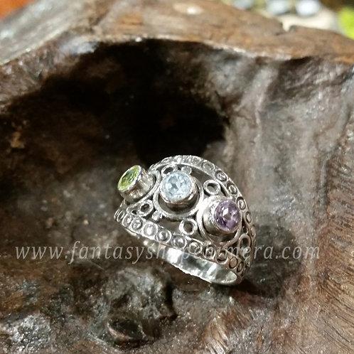 Mixed Trio semiprecious stones