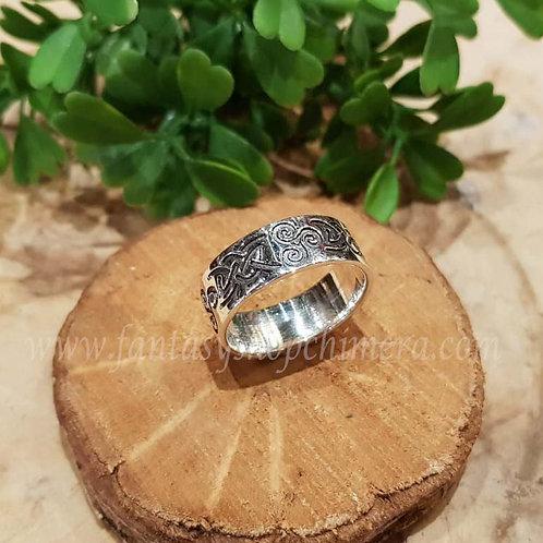 wheel of life levenswiel ring silver keltische knoop celtic knot zilver triskel sieraden fantasy shop amsterdam  jewellery
