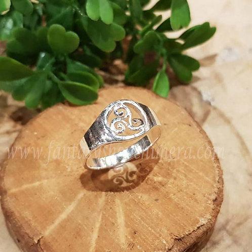 wheel of life triskel levenswiel ring silver keltische celtic knot zilver fantasie sieraden fantasy shop amsterdam  jewellery