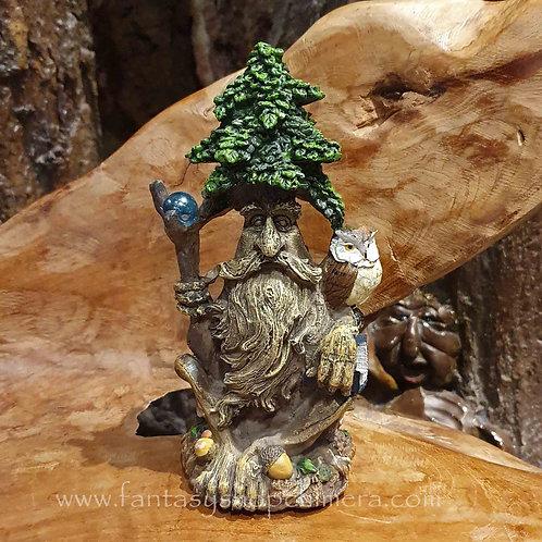 wise ent tree man owl figurine books wijze boom gezicht uil student beeldje