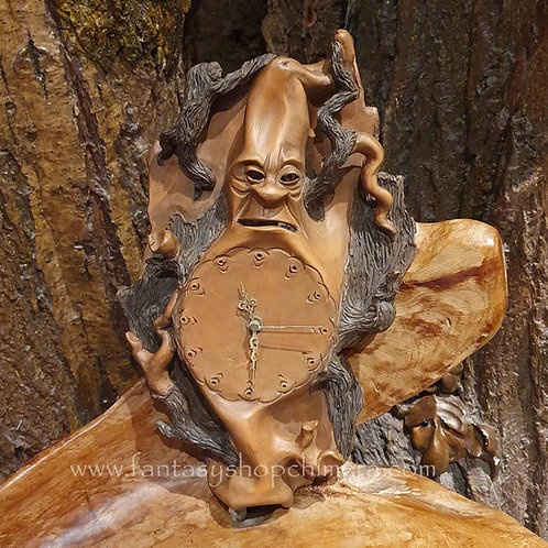 wood wise wall clock ceramic keramieren wandklok klok boom gezicht
