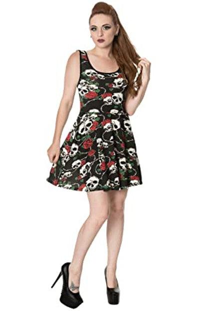 Skulls and Roses mini dress