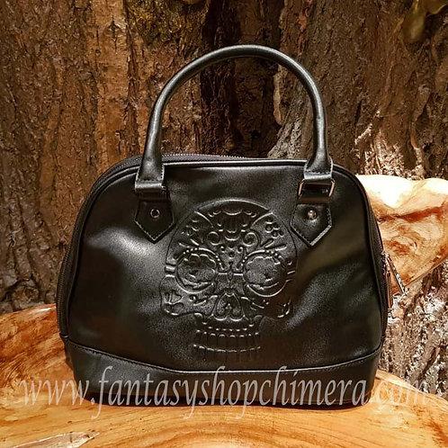 Skull sugar fantasy bag schedel zwarte dames tas schoudertas fantasy shop alternatieve alternative style