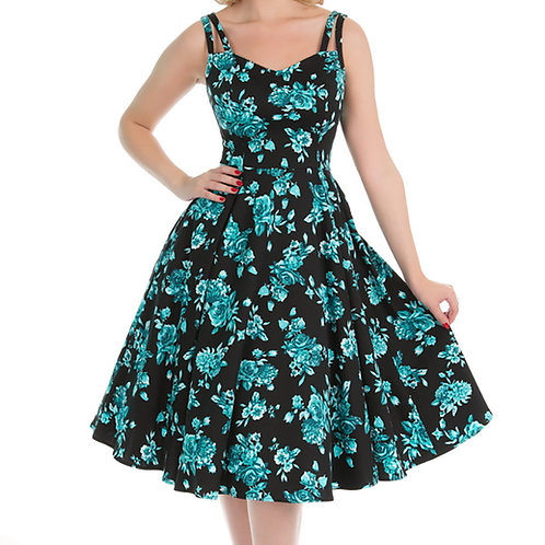 Luana black dress swing h&r alternative wear hillbilly zomer jurkje 50's style stijl fantasy shop kledingwinkel amsterdam