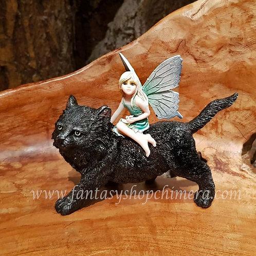 evy and sam fairy kitten figurine elfje zwarte kat katje poes black cat beeldje elfenwinkel