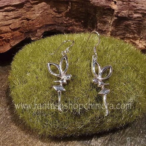 fairy earrings silver tinkerbell zilveren oorbellen elfjes tinkelbel