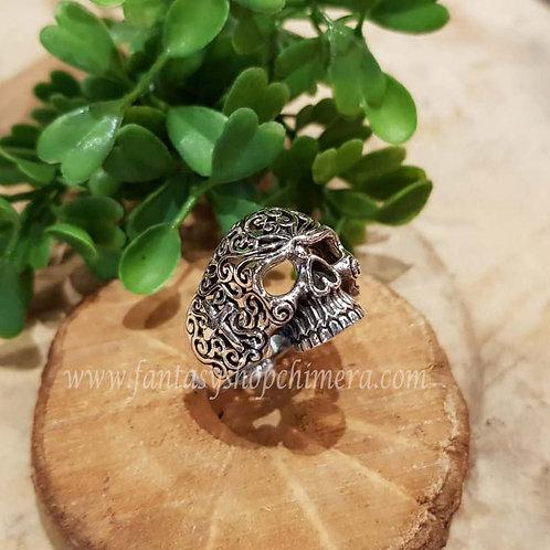 sugar Skull schedel gothic mexican ring silver zilver jewllery symboloc symbolische sieraden winkel fantasy shop amsterdam
