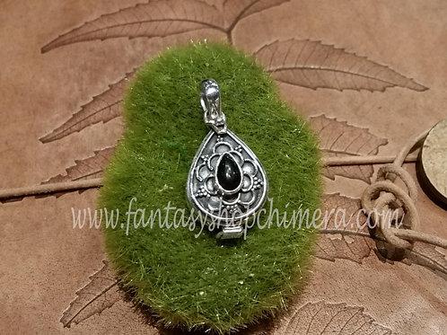 Onyx locket pendant