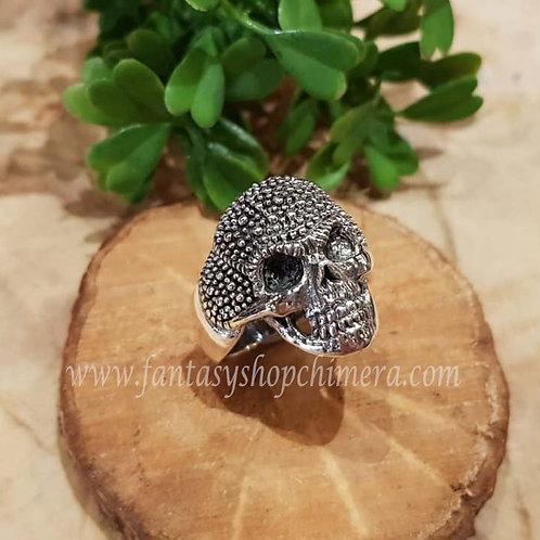 Skull schedel gothic biker ring silver zilver jewllery symboloc symbolische sieraden winkel fantasy shop amsterdam