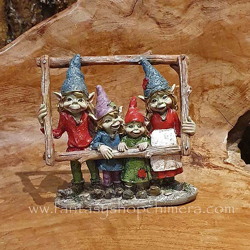 pixie family frame say cheese gnomes kaboutertjes familie anthony fisher