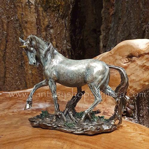 elegance unicorn figurine bronze look brons beeld eenhoorn