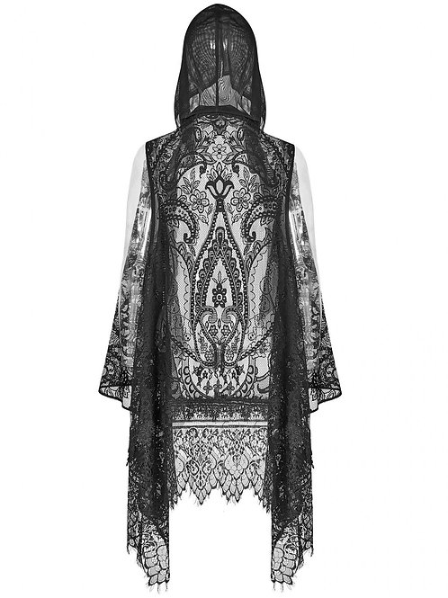 Lace Hooded sjawl gothic fantasy clothing punk rave sjaal capuchon kant