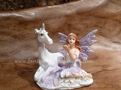 Fairy with unicorn friend
