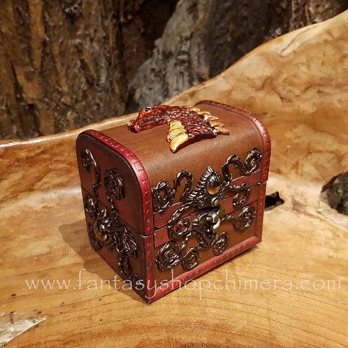 dragon treasure chest box jewelry jewellery sieradendoos draak schatkist hout