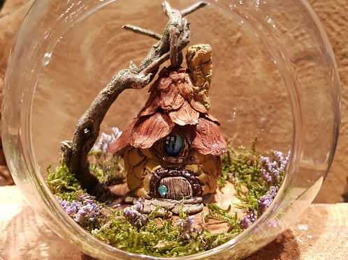 fairy cottage garden miniature glass dome glazen bol elfenhuisje miniatuur huisje tuintje