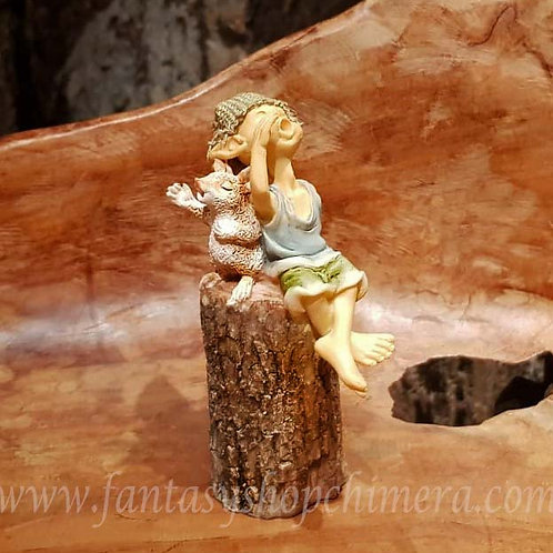 Morning Song pixie figurine mice mouse beeldje van zingende pixie met muisje fantasy shop chimera amsterdam
