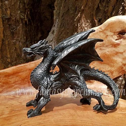 Owen black dragon figurine zwart drakenbeeld zwarte draak draakje kopen drakenwinkel fantasy shop