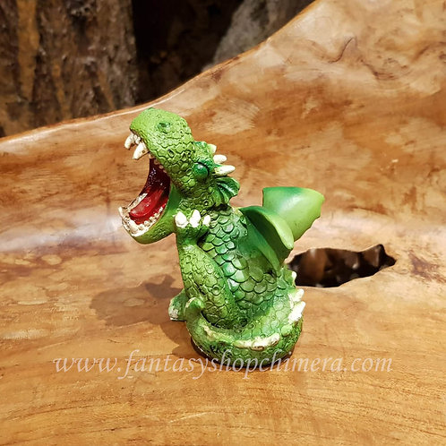Ha ha ha laughing out loud green dragon figurine groen draakje beeldje