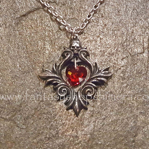 bouquet of love necklace pendant alchemy pewter swarovski gothic jewellery  alternatieve sieraden amsterdam