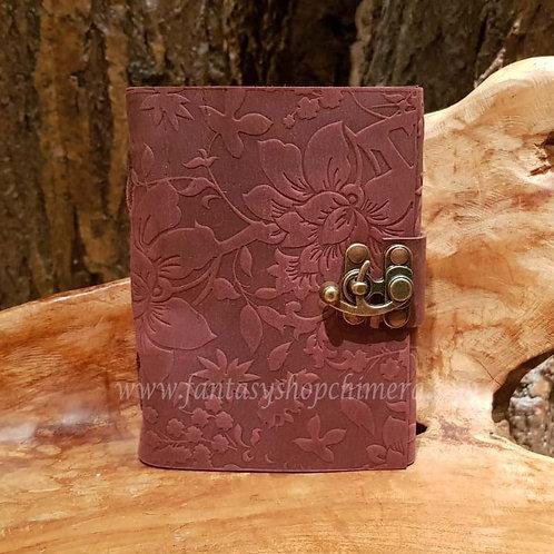 bloom of life leather journal diary book notes leren boekje tekenboek opschrijfboek dagboek notitieboek fantasy shop