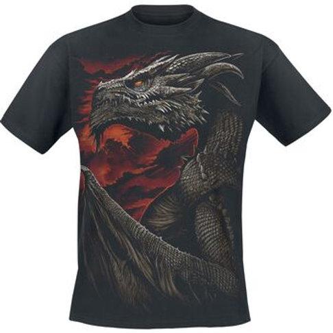 Majestic Drago t-shirt cotton katoen kleding dragon draken draak wit fantasy alternative clothes alternatieve kleding