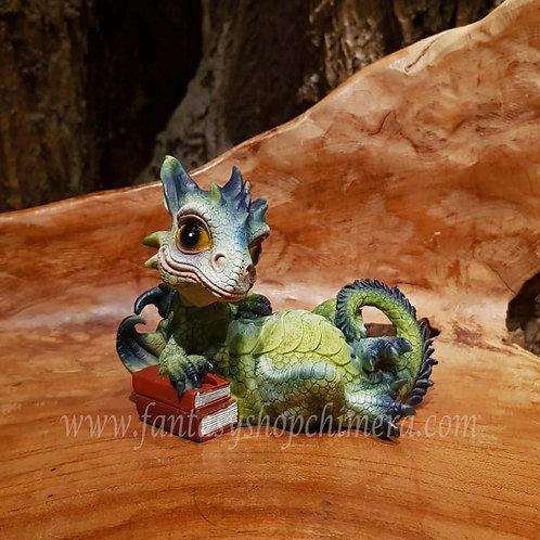 Johnny dragon book reading figurine cute schattig draakje boek draak beeldje drakenwinkel amsterdam chimera