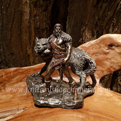 Tyr mythology god nordic viking wolf goden beelden figurines fantasy shop amsterdam brons bronze