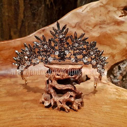 julia crown fairy queen tiara jewellery LARP ornaments haar sieraad elfen koningin kroon kroontje prinses princess