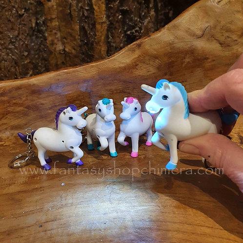unicorn light sound keyring key chain sleutelhanger eenhoorn met licht en geluid