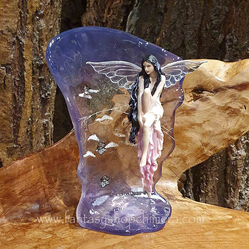 contemplation fairy sky butterflies selena fenech art fantasy elfje wolk lucht beeldje