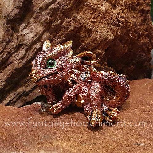 tiny baby dragon figurine red dragonling klein draakje mini draak drakenwinkel amsterdam fantasy shop