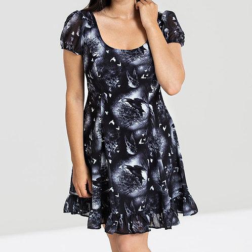 mini dress jurkje gothic emo fantasy raven kraai crow birds alternative style clothing alternatieve kleding stijl