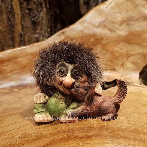 troll with dog nyform original norwegian noorse trollen trollenwinkel trol met hondje