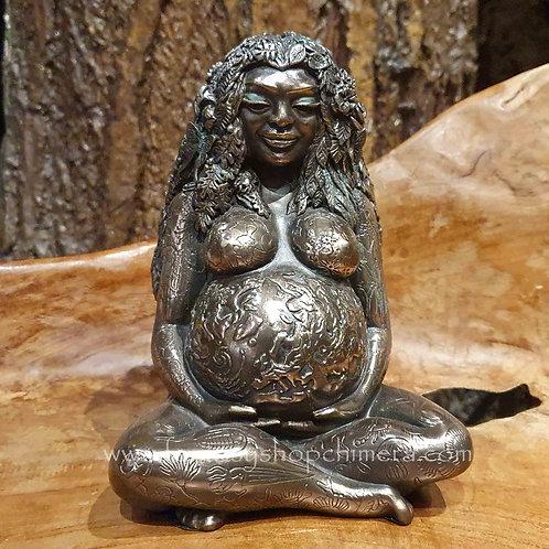 mother earth bronze figurine pregnant moeder aarde venus beeldje vrouw zwanger
