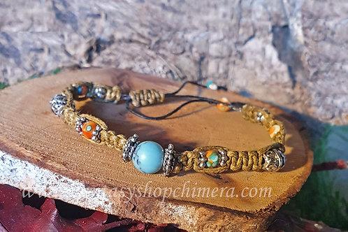 turquoise healing stone gem bracelet power symbol helende stenen armband turkoois boho bohemian
