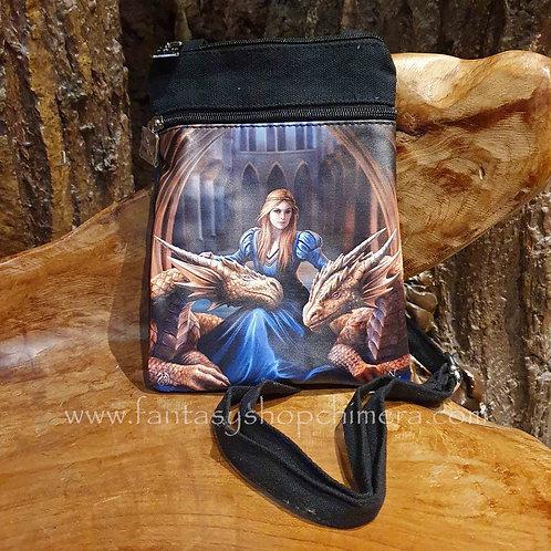 fierce loyalty dragon lady maiden shoulder bag schouder tasje canvas draken anne stokes