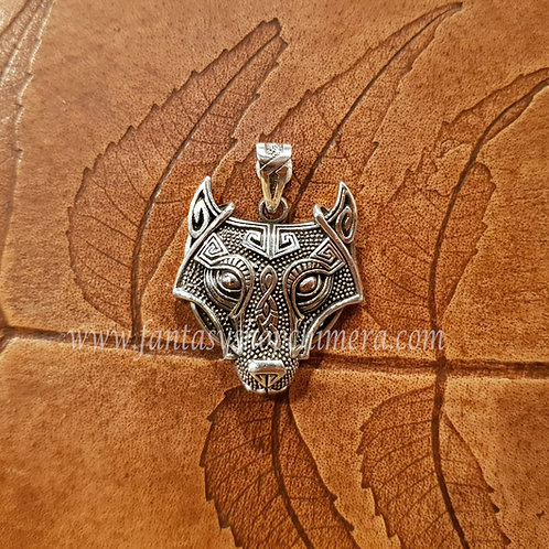 Tribal Wolf pendant