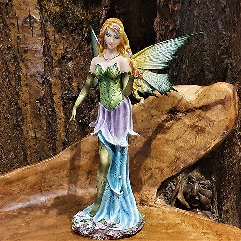 Birdy fairy figurine bird in hand summer element Zomer-elf beeld met vogel op hand